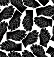 Fig fico hands seamless pattern black and white vector image