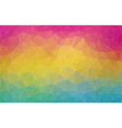 flat 2d multicolor abstract triangle shape vector image vector image