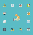 flat icons paper tactics stock and other vector image vector image
