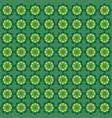 flower pattern ornament green vector image