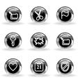 Glossy icon set 27 vector image