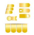 goldgold ribbon banner on white background vector image
