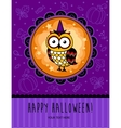 Halloween card with owl vector image vector image