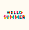 hello summer poster bold colorful style vector image vector image