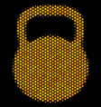 hexagon halftone weight icon vector image vector image