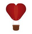 hot air balloon heart shaped vector image