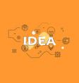 idea text concept modern flat style vector image