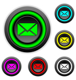 Mail buttons set vector image vector image