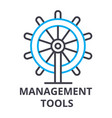 management tools thin line icon sign symbol vector image vector image