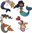 mermaids vector image