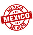 mexico red round grunge stamp vector image vector image