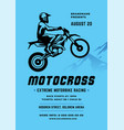 motocross poster or flyer event modern typography vector image