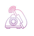 old telephone call phone gradient icon vector image vector image