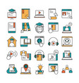 online education website and mobile training vector image vector image