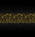 persian golden linear background vector image vector image
