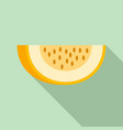 piece of melon icon flat style vector image vector image