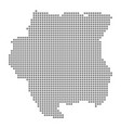 pixel map of suriname dotted map of suriname vector image vector image