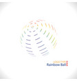 rainbow ball logo vector image vector image