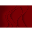 Red Abstract Background with Curves vector image vector image