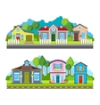 Residential village houses flat vector image vector image