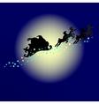 Santa Silhouette vector image vector image