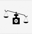 scales symbol of justice vector image vector image