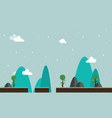 scenery style flat game background vector image