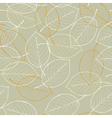 seamless background - autumn leaves vector image vector image
