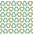Seamless flat recycle background vector image vector image