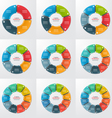set of pie chart infographic templates vector image vector image