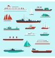 Ships and boats set vector image