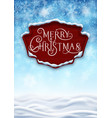 snowy background with banner vector image vector image