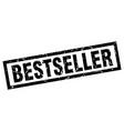 square grunge black bestseller stamp vector image vector image
