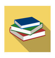stack of books icon in flat style isolated on vector image