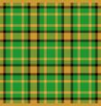 tartan seamless pattern background green black vector image vector image