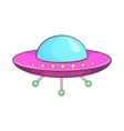 UFO icon cartoon style vector image