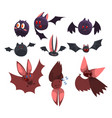vampire bat cartoon characters set funny bats vector image vector image