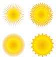 vector suns vector image