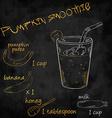 vegetables smoothie with ingredients list Pumpkin vector image