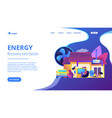 ventilation system concept landing page vector image vector image