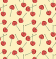 Watercolor cherry in vintage style vector image vector image