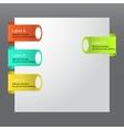 cartoon flat set of glossy plastic tags vector image