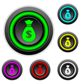Money buttons set vector image