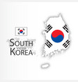 south korea flag and map vector image