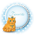 a cute cat vector image