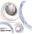 abstract baseball ball on modern background vector image