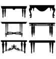 antique ancient classic table a set table vector image vector image