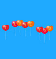 balloons with a declaration of love vector image vector image