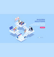 banner for small office homepage vector image vector image