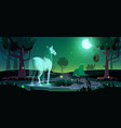 banner mystery with horse ghost in forest vector image